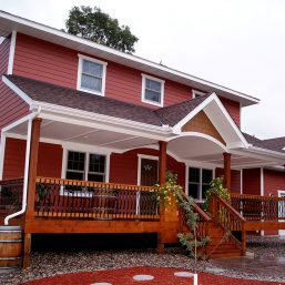 SIP's, Structural Insulated Panels, custom home, LP siding, cedar deck, front porch - Julkowski Inc.