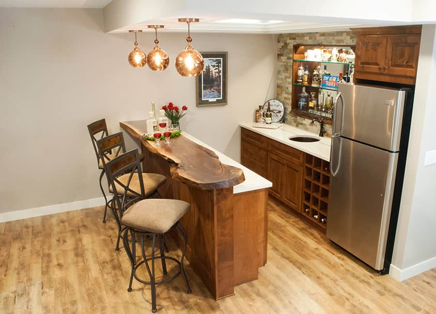 Shoreview, MN Whole Home Remodel - lower level bar